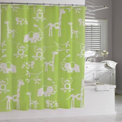 Zoo Shower Curtain Green - Cassadecor
