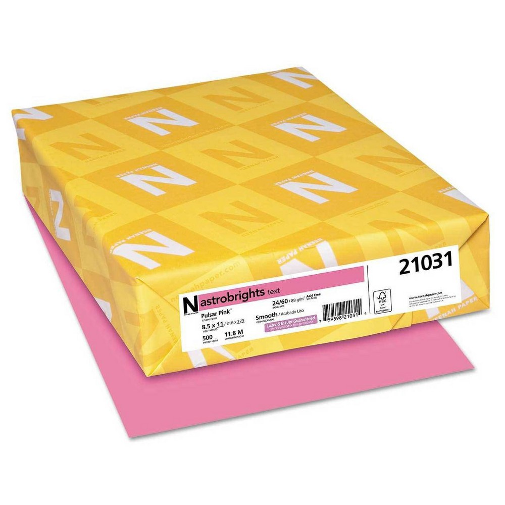 Neenah Paper Astrobrights Printer Paper, 8.5 x 11, 500 ct -Pink, Pink
