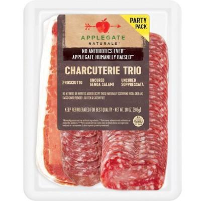 Applegate Natural Charcuterie Trio with Prosciutto, Uncured Genoa Salami & Uncured Soppressata - 10oz