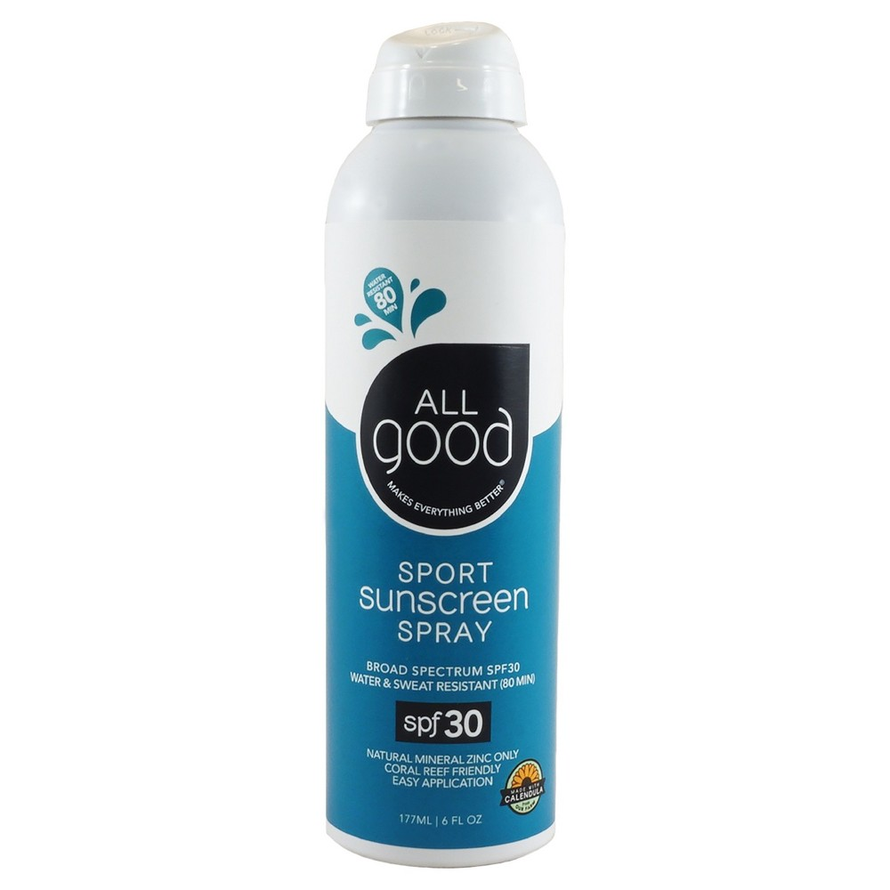 Image of All Good Sport Sunscreen Spray Water Resistant - SPF30 - 6oz