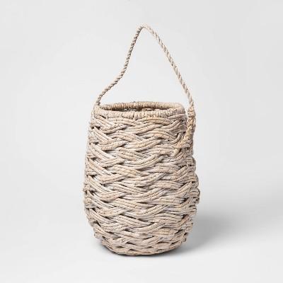 Mini Round Basket White Washed 11.25 x8.75  - Threshold™