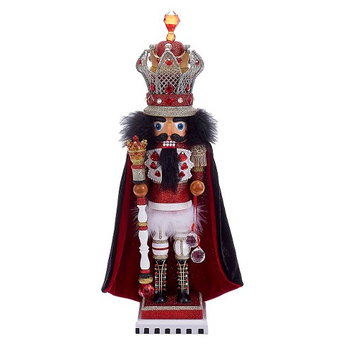 "Hollywood King Nutcracker with Wire Crown 18"" - image 1 of 1"