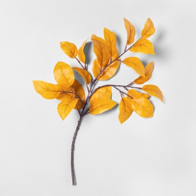 """18"""" Faux Golden Aspen Leaves Stem - Hearth & Hand™ with Magnolia"""