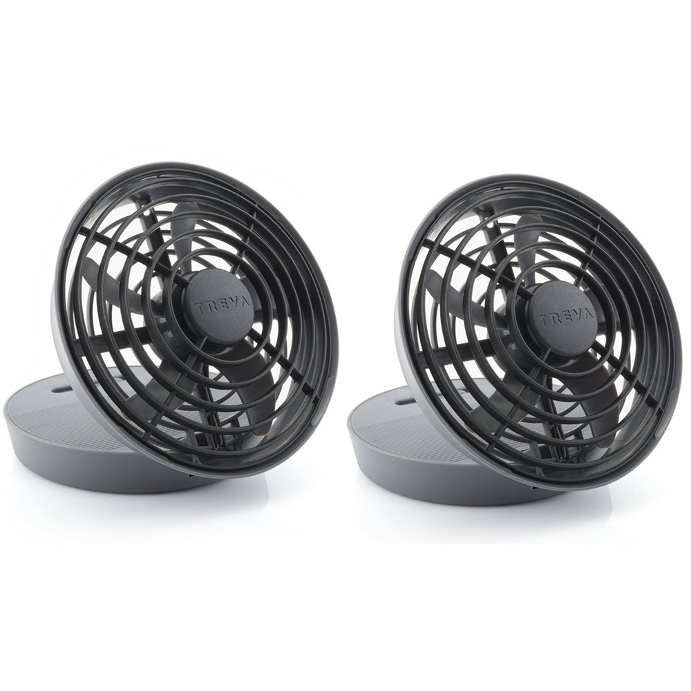 O2cool 2pk 5 34 Usb Powered Desk Fan Black