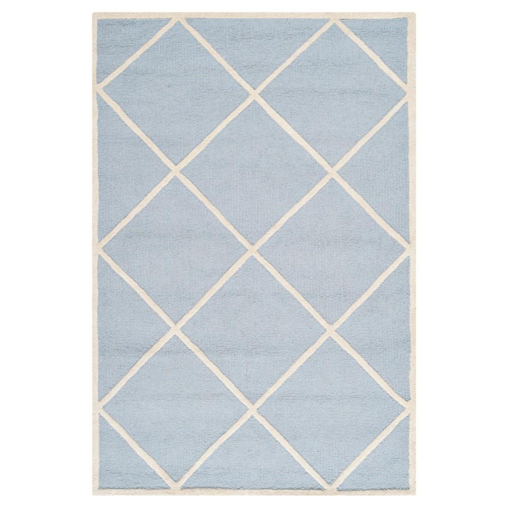 5'X8' Geometric Area Rug Light Blue/Ivory - Safavieh