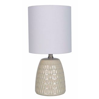 Textured Ceramic Table Lamp Tan (Lamp Only) - Threshold™