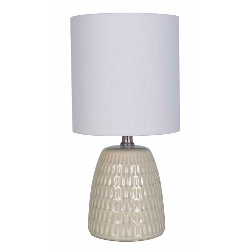 Textured Ceramic Table Lamp Tan (Lamp Only) - Threshold™ - image 1 of 1