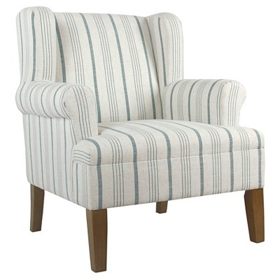 Emerson Rolled Arm Accent Chair   Homepop