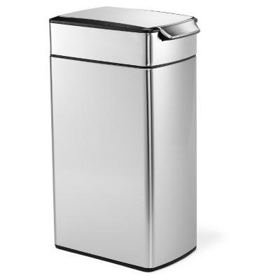 Simplehuman 40 Liter Slim Touch-Bar Trash Can, Fingerprint-Proof Brushed Stainless Steel