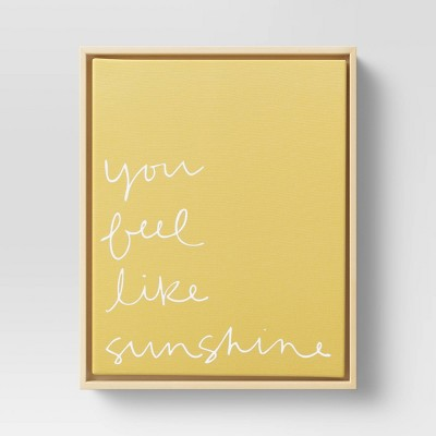 "8"" x 10"" You Feel Like Sunshine Printed Canvas Yellow - Project 62™"