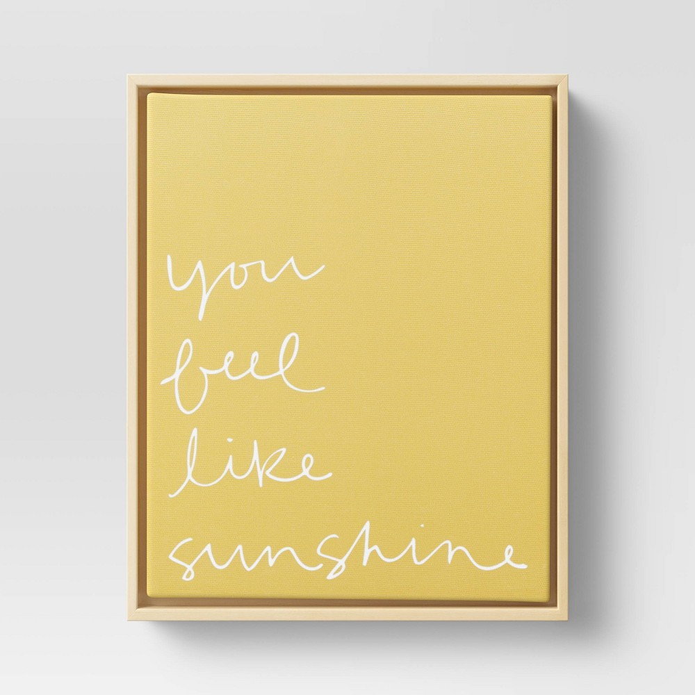 "Image of ""8"""" x 10"""" You Feel Like Sunshine Printed Canvas Yellow - Project 62"""