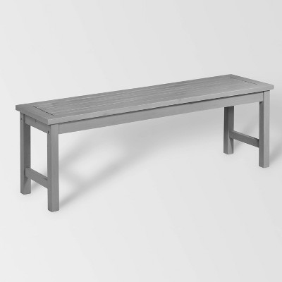 Acacia Wood Patio Dining Table Gray - Saracina Home