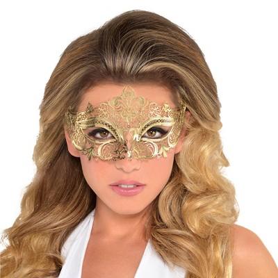 Adult Filigree Gold Mask Accessory Halloween Costume