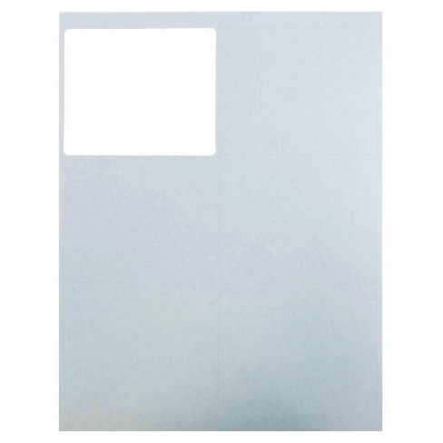 jam paper mailing labels 3 1 3 x 4 120ct light blue target