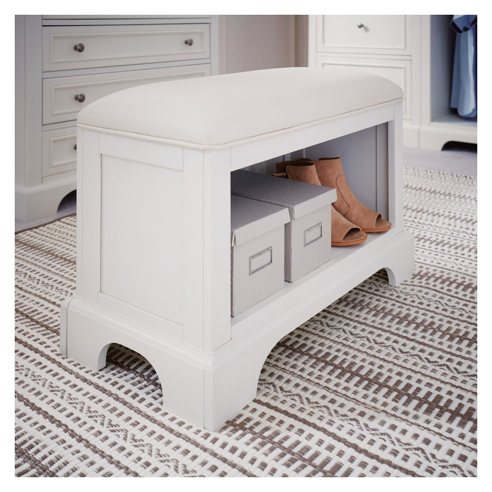 Naples Bench - White - Home Styles
