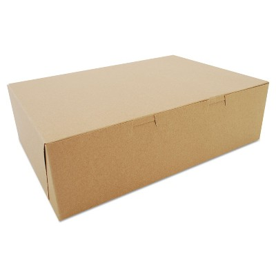 SCT Bakery Boxes Kraft Paperboard 14 x 10 x 4 100/Bundle 1025K