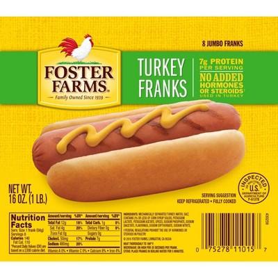 Foster Farms Turkey Franks - 16oz/8ct