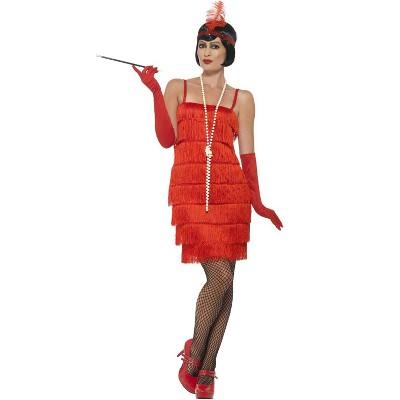 Smiffy Short Flapper Dress Adult Costume (Red)