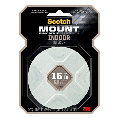 "Scotch 1""x125"" Indoor Mounting Tape"
