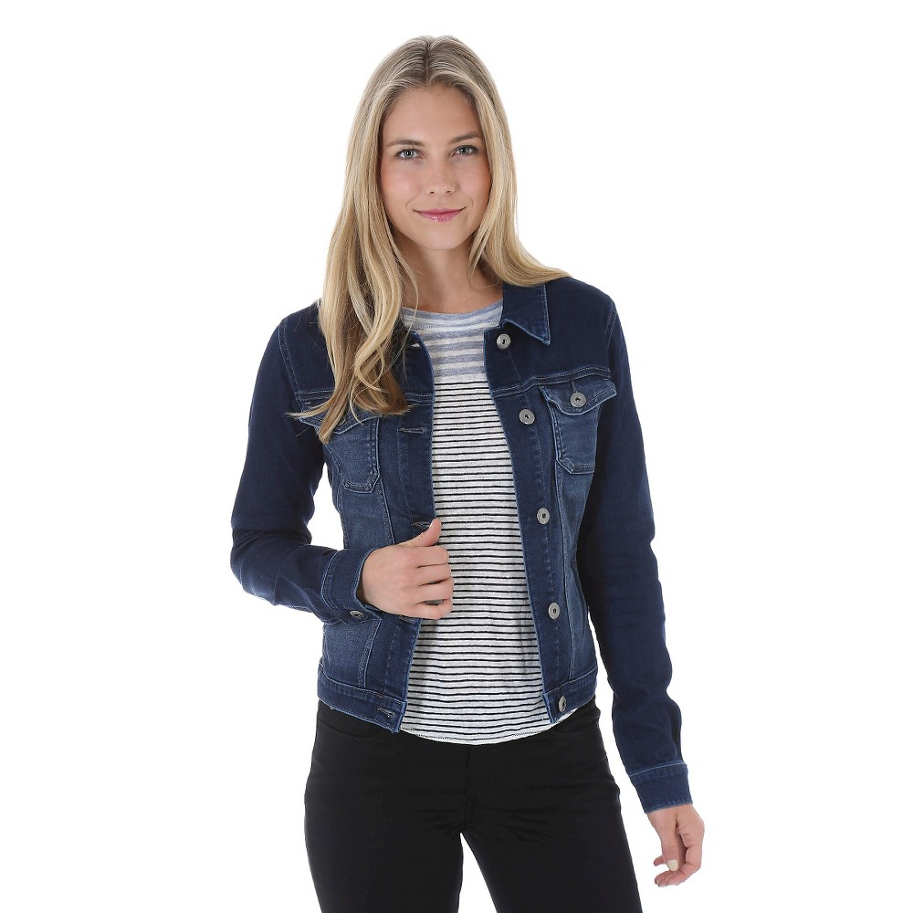 Crafted by Lee Women's Dreamsoft Jean Jacket - XL, Blue