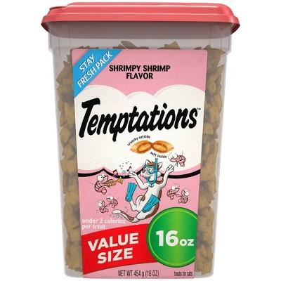 Temptations Shrimpy Shrimp Flavor Crunchy Cat Treats