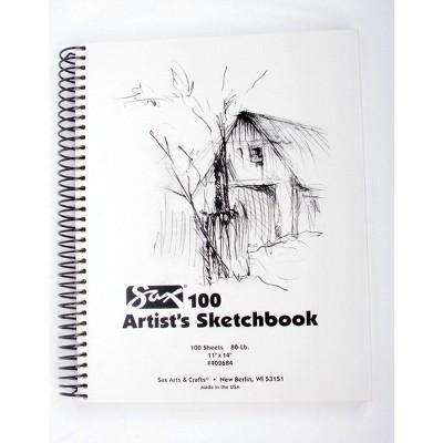 Sax 100 Artist's Sketchbook, 80 lb, 11 x 14 Inches, White