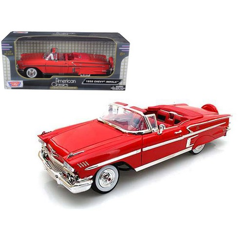 1958 Chevrolet Impala Red 1/18 Diecast Car Model by Motormax - image 1 of 1