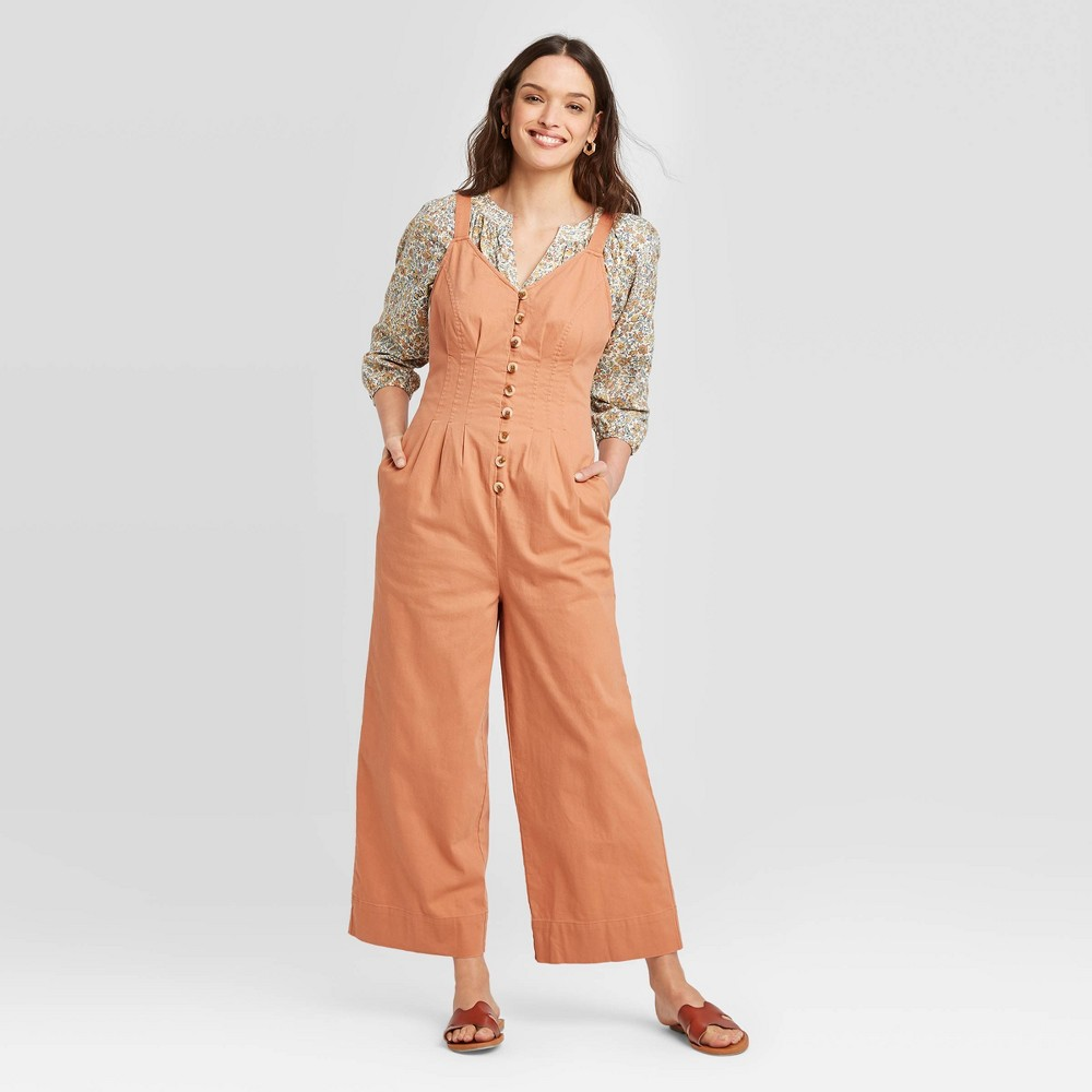 Women's Mid-Rise Sleeveless Ankle length Straight Leg Jumpsuit - Universal Thread Brown 4 was $29.99 now $20.99 (30.0% off)