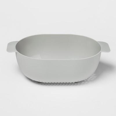 Plastic Colander 5qt Silver - Room Essentials™