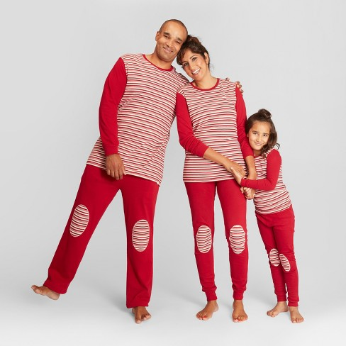 1917a611f Burt s Bees Baby Women s Striped Holiday Candy Cane Pajama Set - Red ...