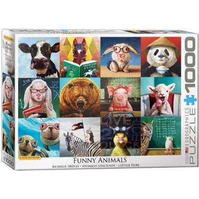 Eurographics Inc. Funny Animals by Lucia Heffernan 1000 Piece Jigsaw Puzzle