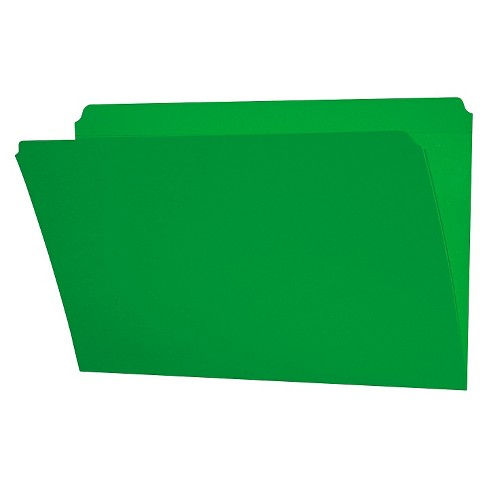 Smead® File Folders, Straight Cut, Reinforced Top Tab, Legal, Green, 100/Box - image 1 of 1