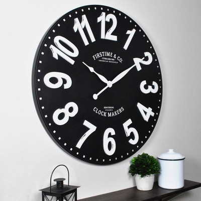 "27"" Sullivan Farmhouse Wall Clock Black - FirsTime & Co."