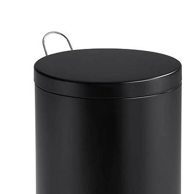 Honey-Can-Do 30 Liter Step Trash Can - Black