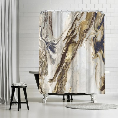 """Americanflat Unoccupied I by Pi Creative Art 71"""" x 74"""" Shower Curtain"""