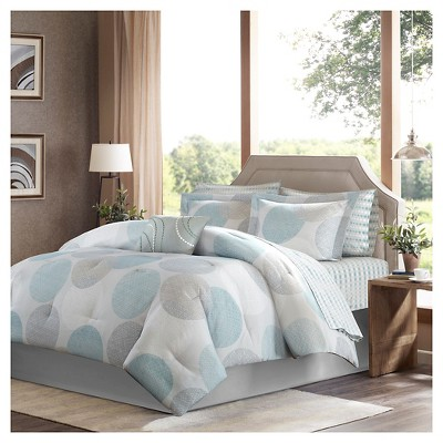 Cabrillo Complete Multiple Piece Comforter Set (King)9-Piece - Aqua