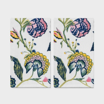 2pk Spring Jacobean Floral Hand Towel - Threshold™