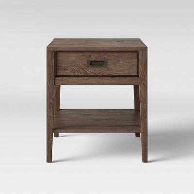 Millbury Rustic Wood End Table - Threshold™
