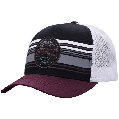NCAA Arizona State Sun Devils Men's Vista Black with Hard Mesh Snapback Hat