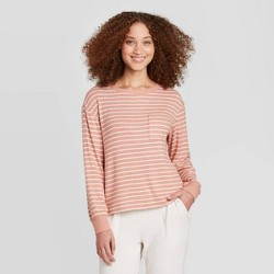 Women's Striped Perfectly Cozy Lounge Sweatshirt - Stars Above™
