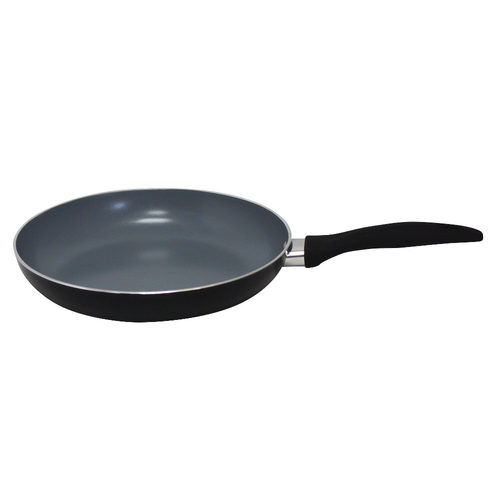 Image of Gourmet Chef 8 Inch Eco Friendly Non Stick Ceramic Fry Pan - Black
