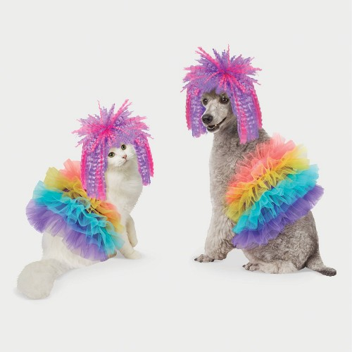 '80s Pop Star Halloween Dog and Cat Costume