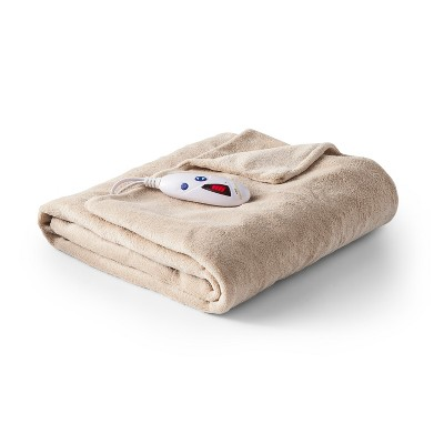 Microplush Electric Throw (62 x50 )Tan - Biddeford Blankets