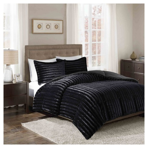 York Brushed Faux Fur Comforter Mini Set - image 1 of 3