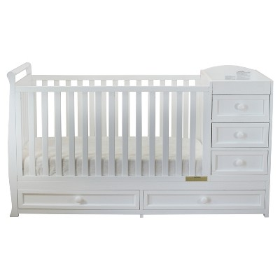 Athena Daphne 2-in-1 Convertible Crib & Changer Combo - White