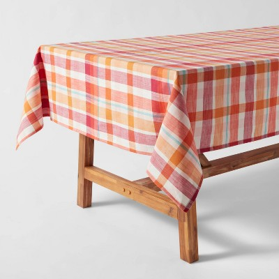 Cotton Plaid Tablecloth Pink - Opalhouse™