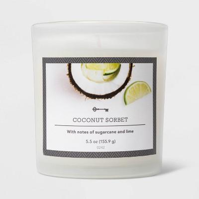 5.5oz Glass Jar Coconut Sorbet Candle - Threshold™