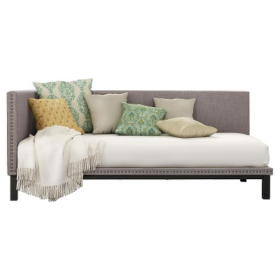 Gentil Mid Century Modern Upholstered Daybed   Gray (Twin)   Dorel Home Products :  Target