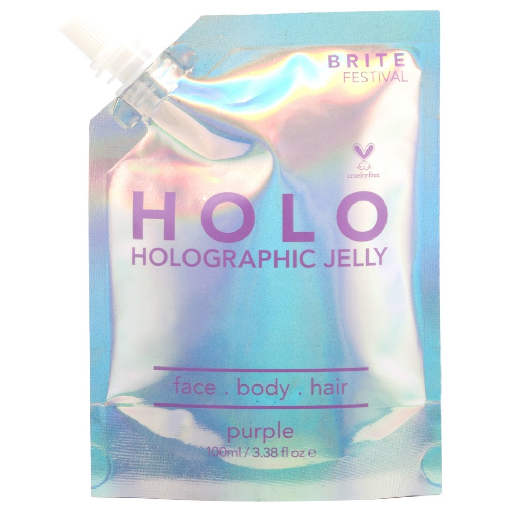 Image of Brite Festival Holographic Jelly - Purple - 3.38 fl oz