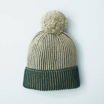 Women's Rib Knit Winter Beanie Hat Tonal Green - Hearth & Hand™ with Magnolia